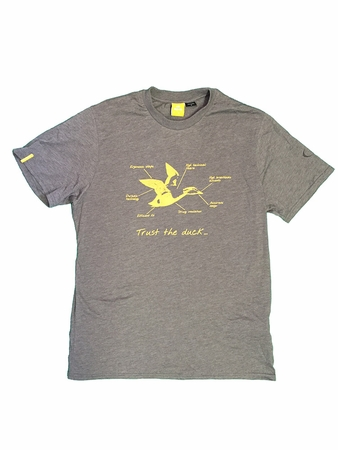 Eider Mens Yulton Tee Dark Grey Print Duck
