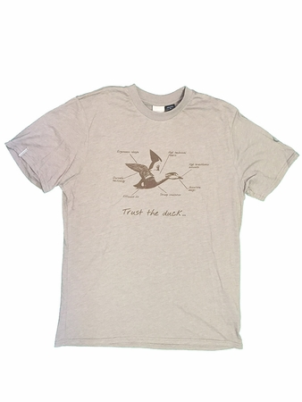 Eider Mens Yulton Tee Faint Brown Print Duck