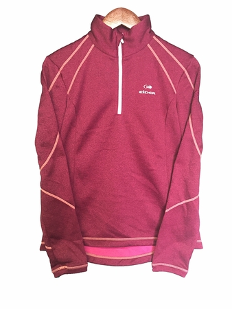 Eider Womens Ampezzo Fleece 1/2 Zip Midnight Rose