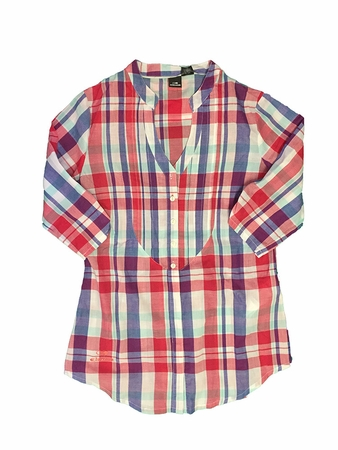Eider Womens Elsewhere Shirt Cherry Rose/ Blueberry