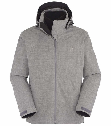 Eider Womens Kargil 3 in 1 Fleece Jacket Grey Cloudy (Close Out)