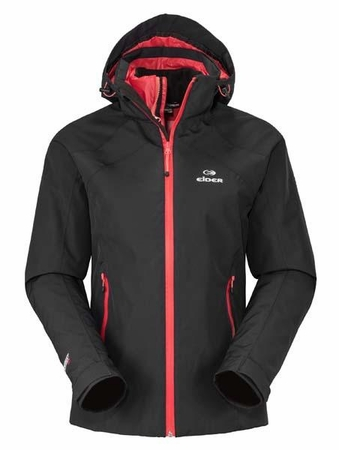 Eider Womens Lhassa 3 in 1 Jacket Black/ Hot Coral