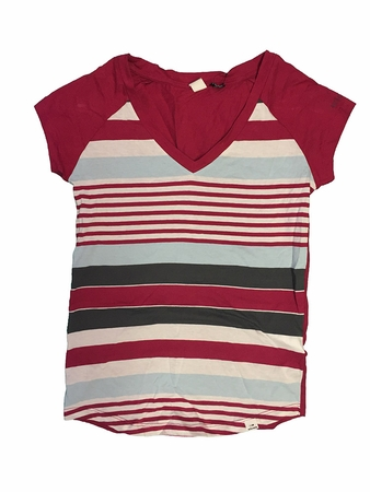 Eider Womens Libellule Tee Cherry Wine Stripes (Close Out)