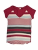 Eider Womens Libellule Tee Cherry Wine Stripes