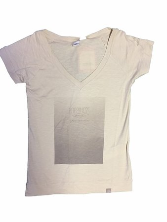 Eider Womens Menthon Tee 2.0 Birch White/ Print Happiness