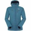 Eider Womens Red Square Jacket 2.0 Dark Cockatoo