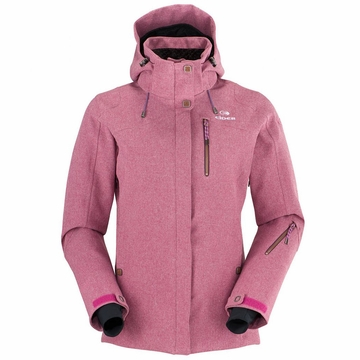 Eider Womens Red Square Jacket II Rose Wine