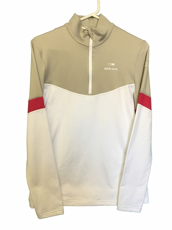 Eider Womens Rise 1/2 Zip White/ Blanc