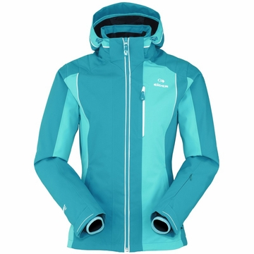 Eider Womens Saas Fee Jacket 2 Cockatoo Blue/ Aqua