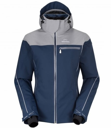 Eider Womens Saas Fee Jacket Night Blue/ Light Heather