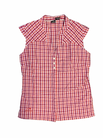 Eider Womens Sherbrooke Capsleeves Shirt Cherry Rose/ Poppy