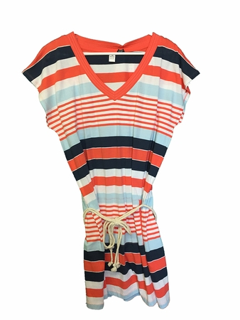 Eider Womens STE Clair Dress Fresh Coral Stripes