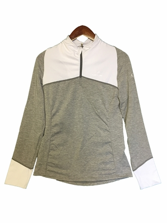 Eider Womens Tignes 1/2 Zip White/ Light Grey Heather