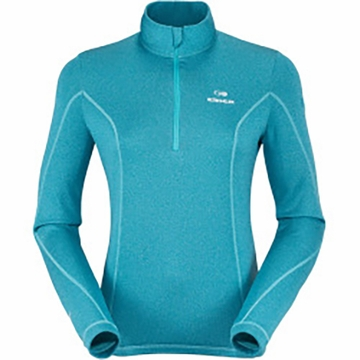 Eider Womens Wonder 1/2 Zip Lagoon Blue Cloudy