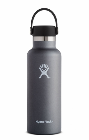 Hydro Flask 18oz Standard Mouth w/ Standard Flex Cap Graphite