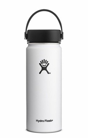Hydro Flask 18oz Wide Mouth w/ Flex Cap White