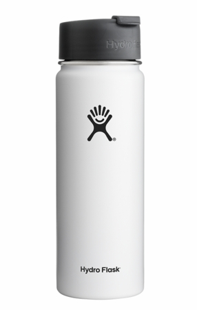 Hydro Flask 20oz Wide Mouth w/ Flip Cap White