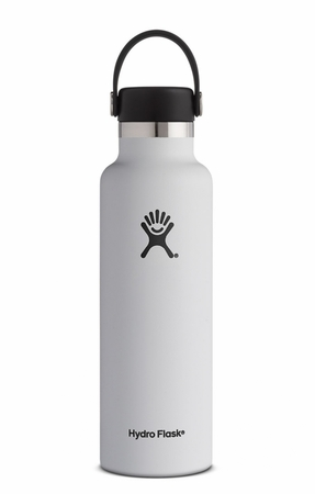 Hydro Flask 21oz Standard Mouth w/ Standard Flex Cap White