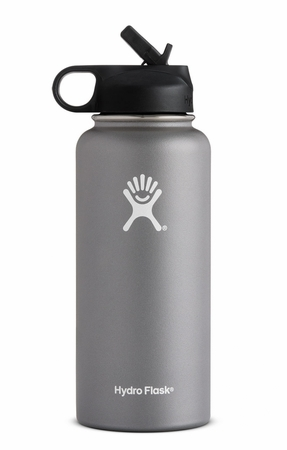 Hydro Flask 32oz Wide Mouth w/ Straw Cap Graphite