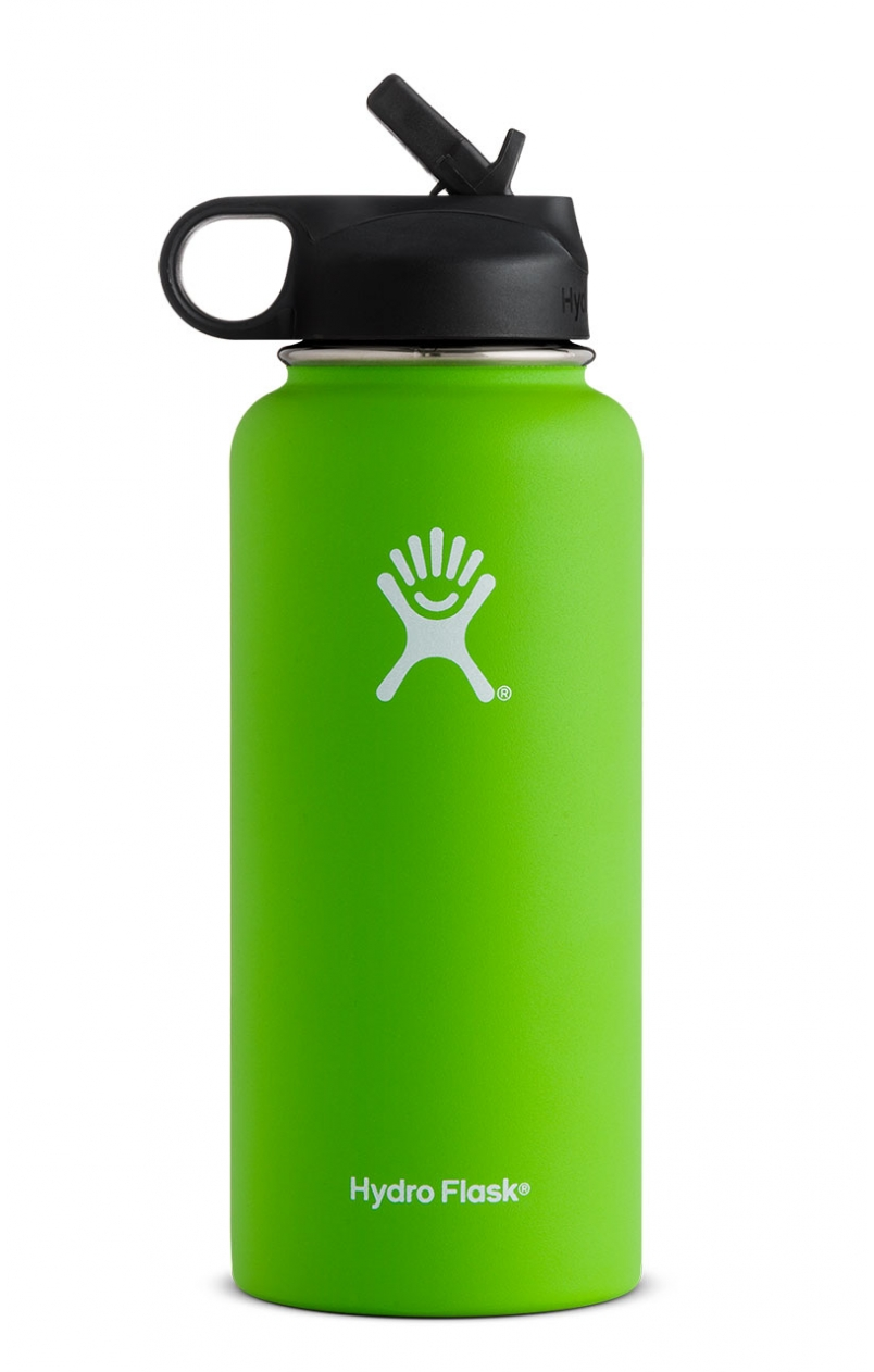 Hydro Flask 32oz Wide Mouth W Straw Cap Kiwi