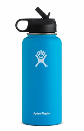 Hydro Flask 32oz Wide Mouth w/ Straw Cap Pacific