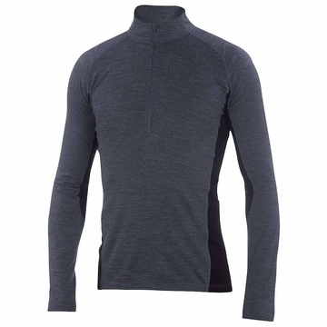 Ibex Mens Indie Half Zip Pewter Heather
