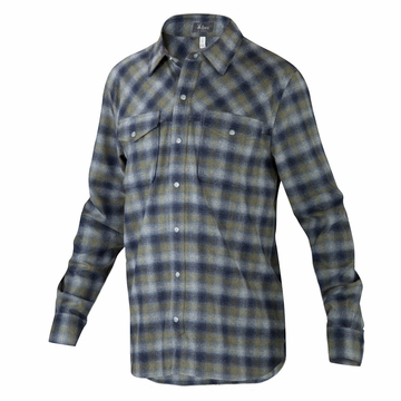 Ibex Mens Taos Plaid Shirt Ranger Plaid