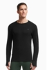 Icebreaker Mens Apex Long Sleeve Crewe Black/ Black/ Black