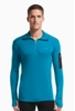 Icebreaker Mens Apex Long Sleeve Half Zip Alpine/ Carbon/ Carbon