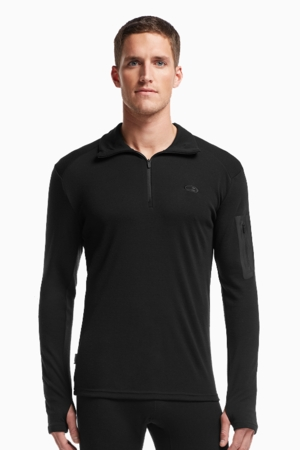 Icebreaker Mens Apex Long Sleeve Half Zip Black/ Black/ Black