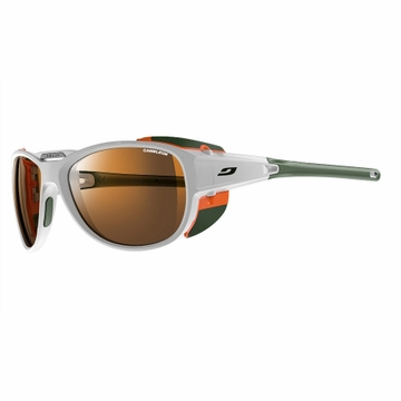 Julbo Explorer 2.0 Sunglasses White/ Orange with Camel Lenses