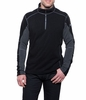 Kuhl Mens Revel 1/4 Zip Black/ Steel