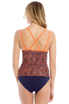 Lole Womens Argentina Tankini Nectarine Foliage (Close Out)