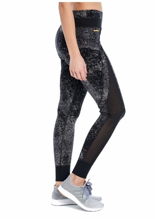 Lole Womens Burst Leggings Black Pointilism (Close Out)
