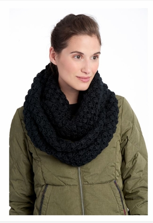 Lole Womens Eternity Scarf Popcorn Black (Close Out)