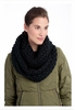 Lole Womens Eternity Scarf Popcorn Black