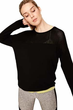 Lole Womens Maelle Sweater Black
