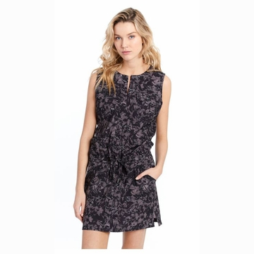 Lole Womens Marina Dress Black Digifleur
