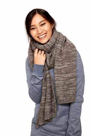 Lole Womens Reverse Knit Scarf Antarctica