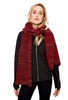 Lole Womens Reverse Knit Scarf Dark Berry