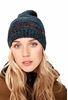 Lole Womens Reverse Knit Slouch Hat Blue Nights (Close Out)