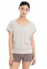 Lole Womens Sheila Top Silver Gray Footprint