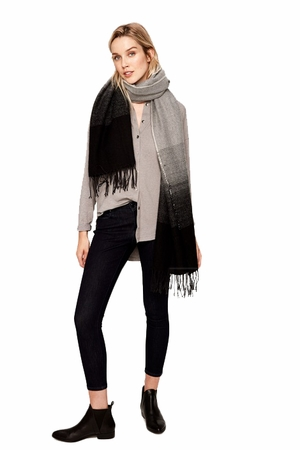 Lole Womens Two Tone Scarf Black