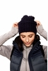 Lole Womens Waffle Knit Slouch Hat Blue Nights