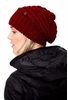 Lole Womens Waffle Knit Slouch Hat Cabernet