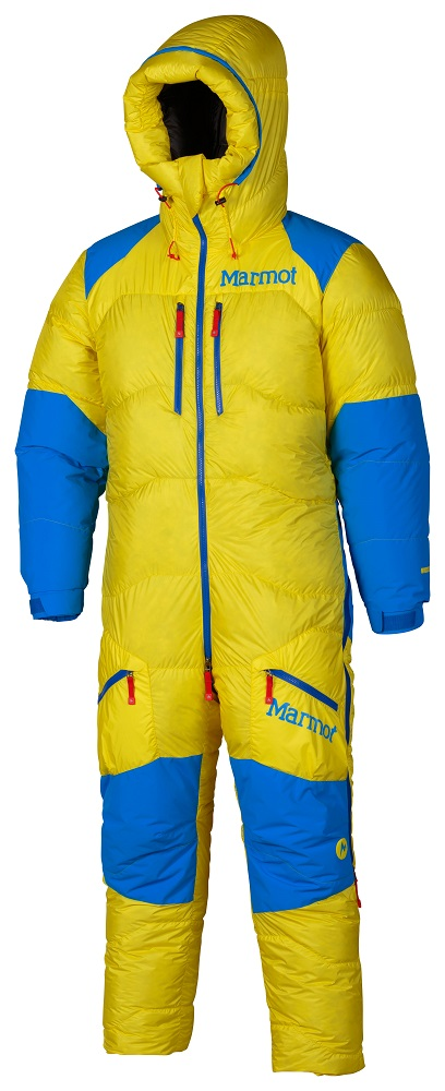 Marmot 8000 Meter Suit Acid Yellow Cobalt Blue Small