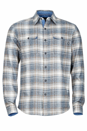 Marmot Mens Jasper Flannel Long Sleeve Dark Indigo