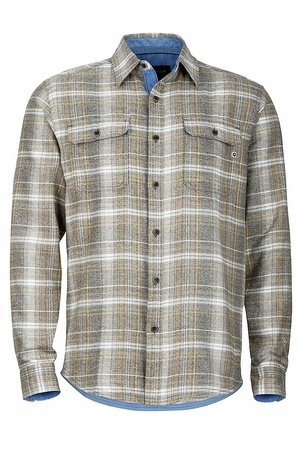Marmot Mens Jasper Flannel Long Sleeve Deep Olive