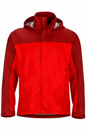 Marmot Mens PreCip Jacket Team Red/ Brick