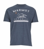 Marmot Mens Republic Tee Short Sleeve Navy Heather